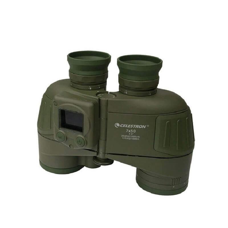 Prismático Celestron Cavalry 7x50 con GPS y brújula electrónica