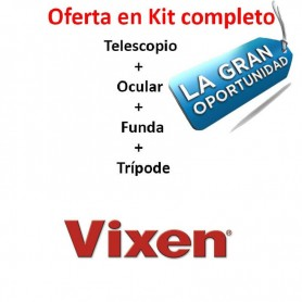 Telescopio Vixen GEOMMA PRO 67A + Ocular + Funda + Trípode MANFROTTO 293