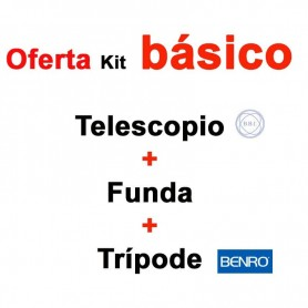 Kit - Telescopio BBI Navigator 20-60x80 + funda + Trípode BENRO BENRO IT15