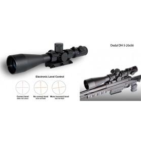 Visor de Rifle Dedal DH 5-20x56 (ø34mm, Retícula iluminada, control vertical) - DH 5-20x56 - Dedal - Miras telescópicas DEDAL