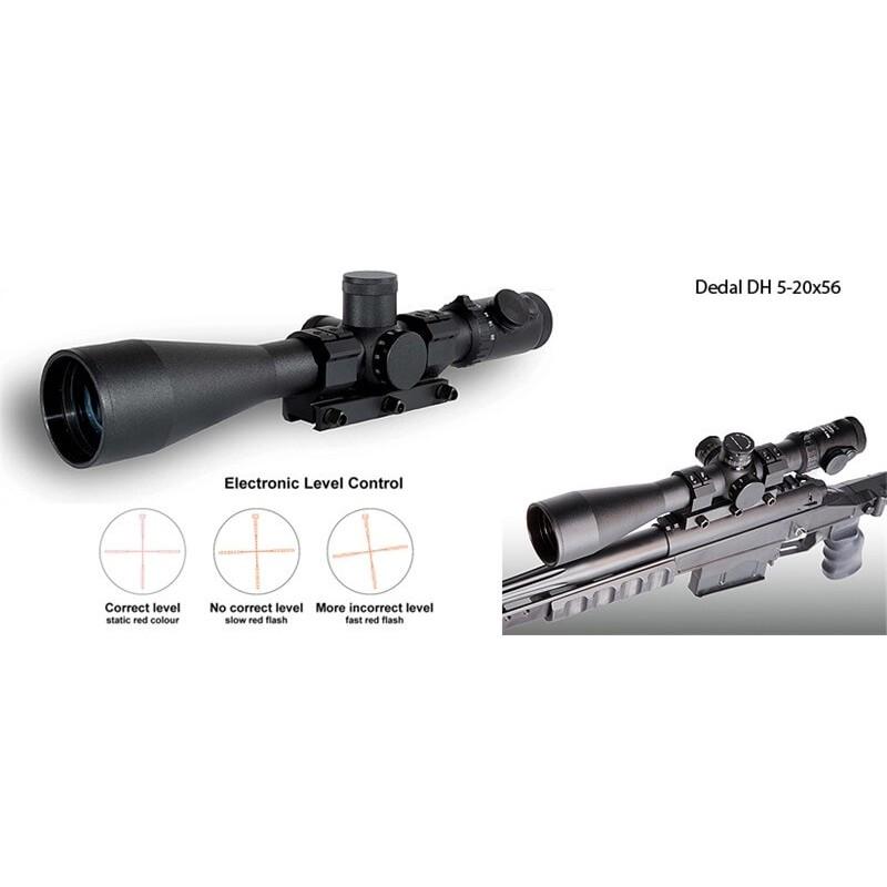 Visor de Rifle Dedal DH 5-20x56 (ø34mm, Retícula iluminada, control vertical)