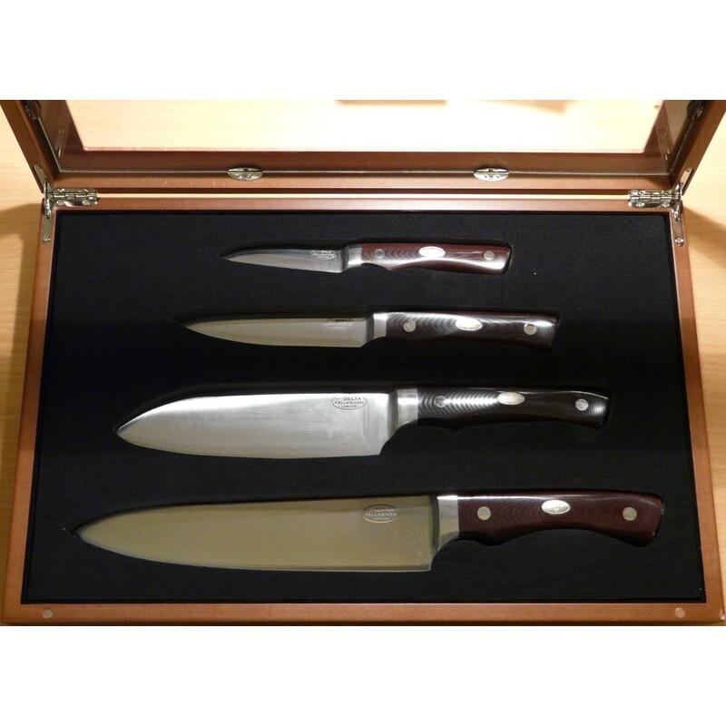 Cuchillo Fällkniven - CMT - 4 Cuchillos Chef - CoS Lamp. - Micarta Marrón