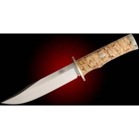 Cuchillo Fällkniven SK6L KRUTT - CoS Lam. - Abedul Rizado - Alpaca - F. Cuero