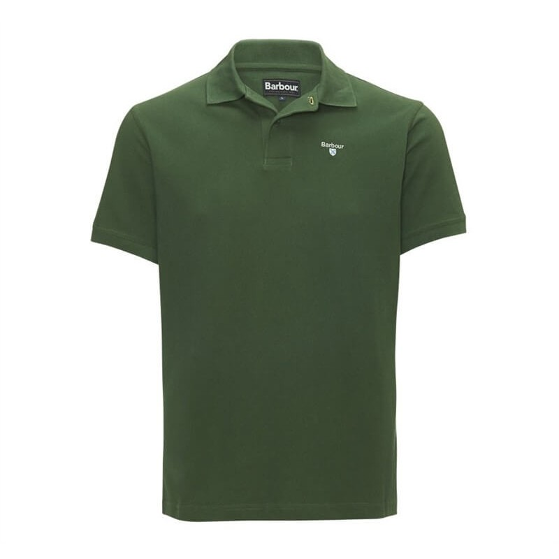 Polo Barbour Sports racing green