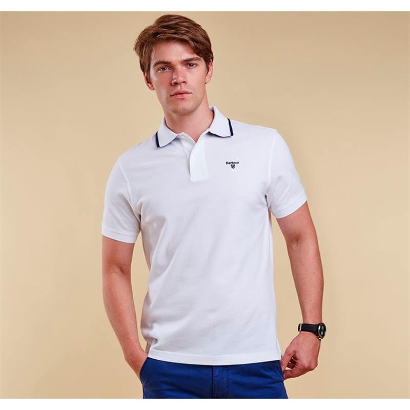 Polo Barbour Tipped Sport white
