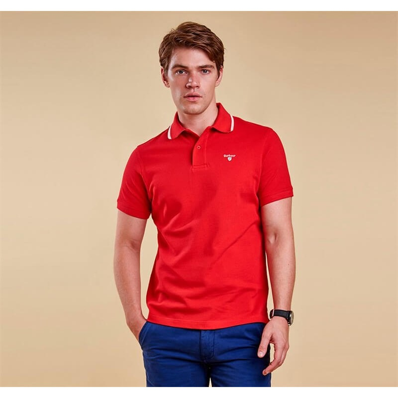 Polo Barbour Tipped Sport red