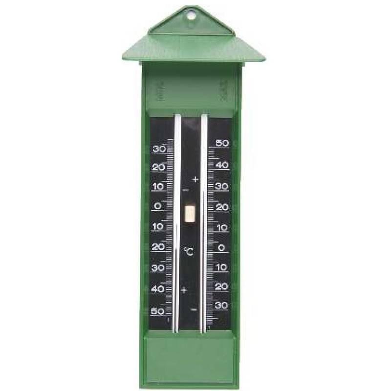 Termómetro de mercurio BBI Máxima, Mínima Verde