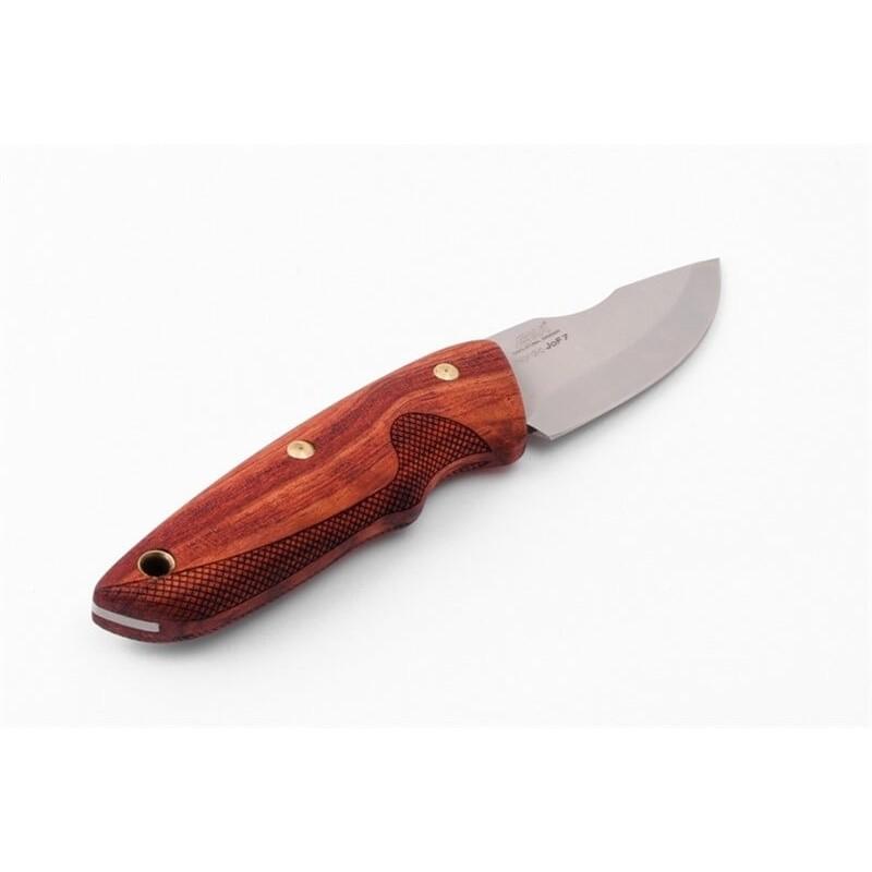 Cuchillo EKA Nordic JoF7 bubinga sin cuadrillado, funda cuero, caja regalo