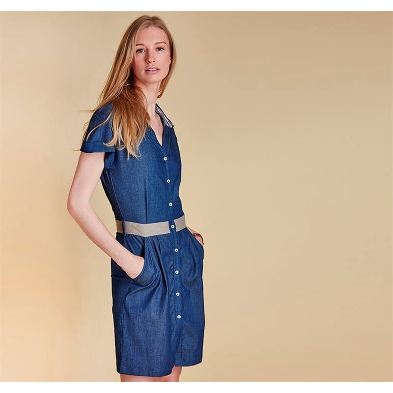 Vestido Barbour Hackamore blue