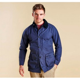 Chaqueta Barbour Washed Bedale navy