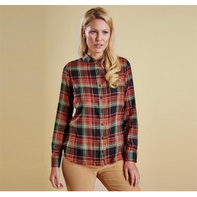 Carter - LSH0890OL71 - Barbour - mujer - Camisas, Polos y Camisetas BARBOUR