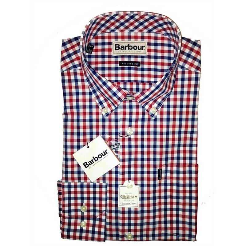 Camisa Barbour Bruce navy