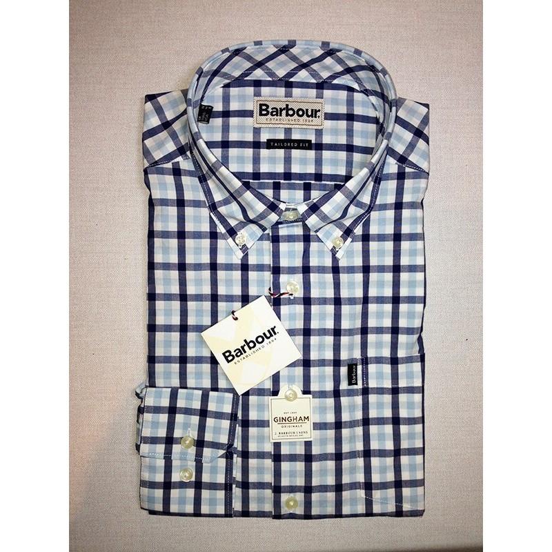 Camisa Barbour Bruce sea blue