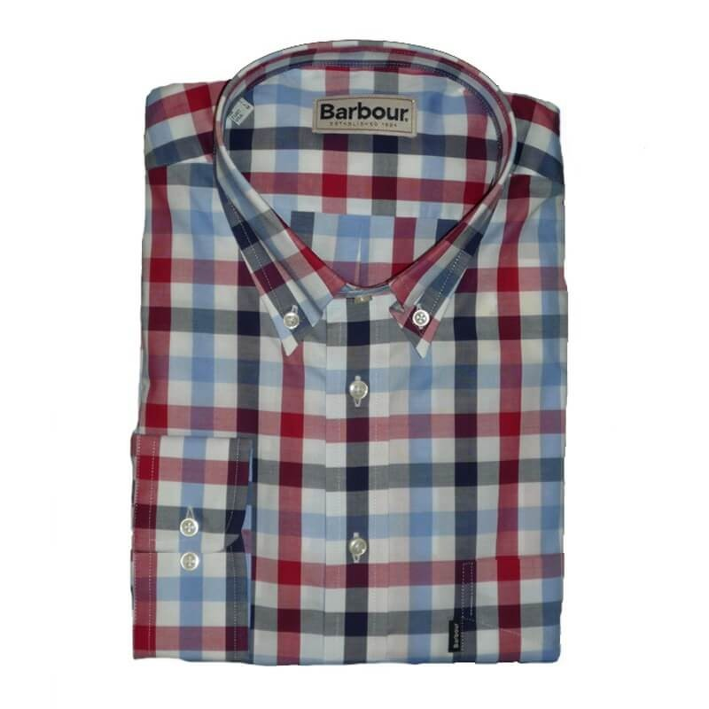 Camisa Barbour Gregory Red