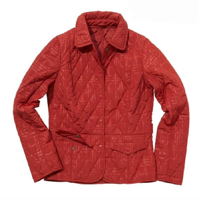 Check Tess red - LQU0064RE51 - Barbour - mujer - Chaquetas BARBOUR
