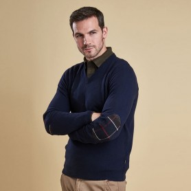 Harrow pico navy - MKN0867NY94 - Barbour - Hombre - Jerseys BARBOUR