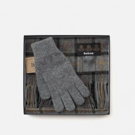 Bufanda y guantes en caja de regalo Grey - MAC0042TN71 - Barbour - Bufandas BARBOUR