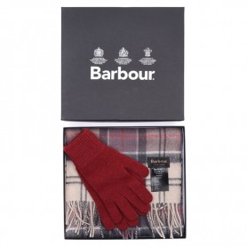 Bufanda y guantes Barbour Neutral Tartan