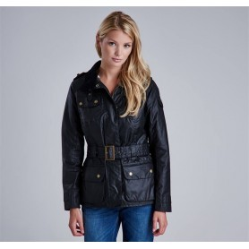 Bergman Wax black - LWX0542BK91 - B. International - mujer - Chaquetas BARBOUR INTERNATIONAL