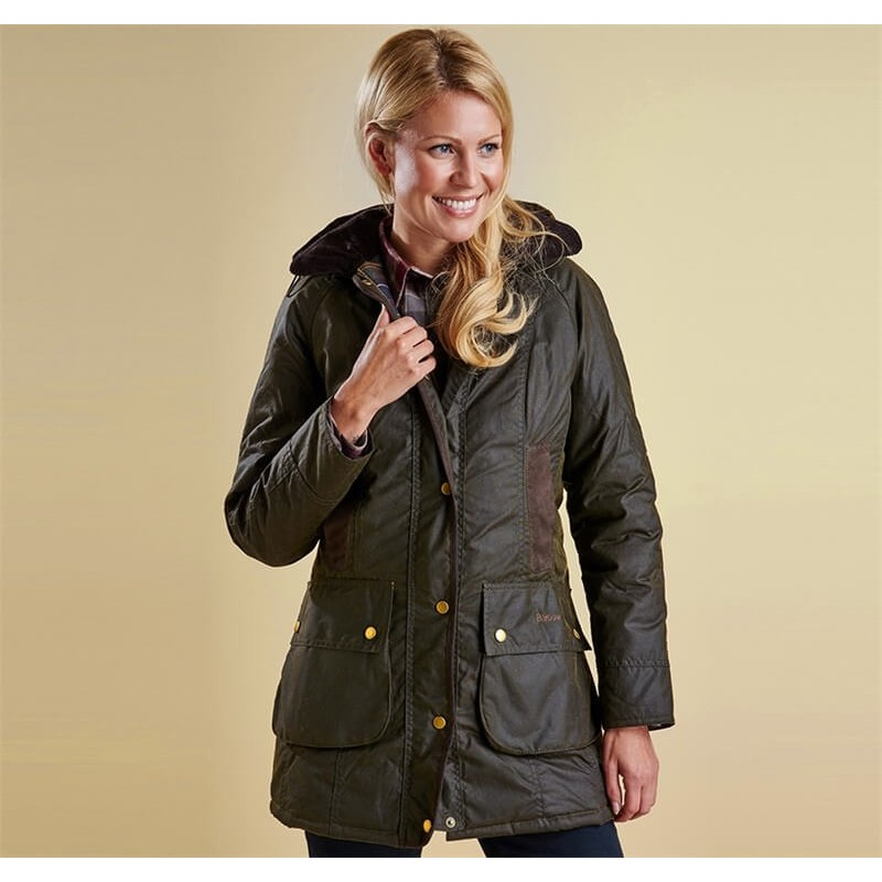 Chaqueta Barbour Bower Wax olive
