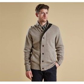 Chaqueta de punto Barbour Patch Zip stone