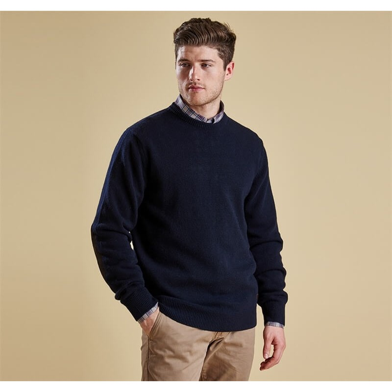 Jersey Barbour Patch Crew navy