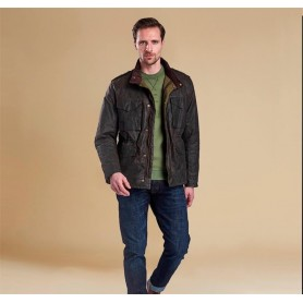 SMQ Field Steve McQueen olive - MWX1238OL71 - B. International - hombre - Chaquetas BARBOUR INTERNATIONAL