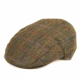 Moons Tweed olive herringbone