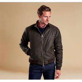Merchant Steve McQueen olive - MWX0465OL71 - B. International - hombre - Chaquetas BARBOUR INTERNATIONAL