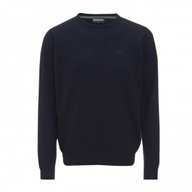Jersey Barbour Essential Lambswool Crew Neck navy