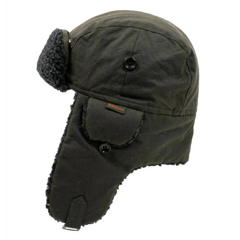 Gorro Barbour Fleece Lined Trapper olive