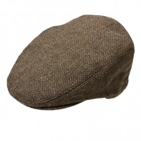 Mens New Country Flat Cap assorted fabric