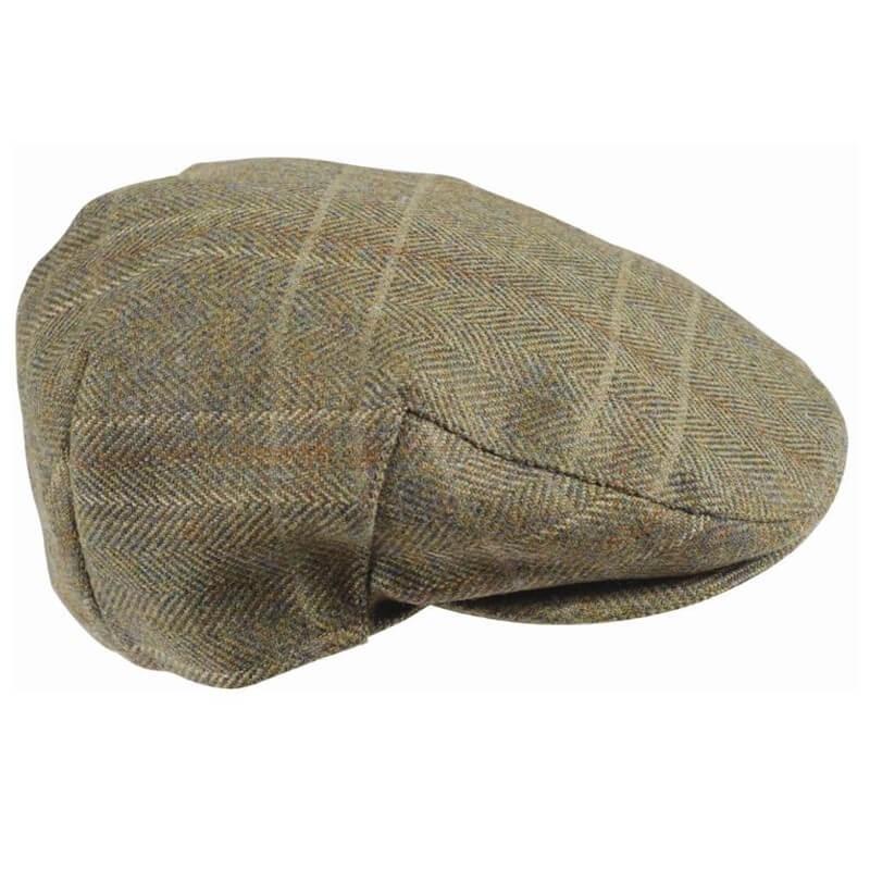 Gorra Barbour Mens Wool Crieff Flat Cap olive