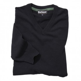 Jersey Barbour Essential Lambwool V Neck navy