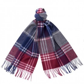 Bufanda Barbour Kindar Check bordeaux/g