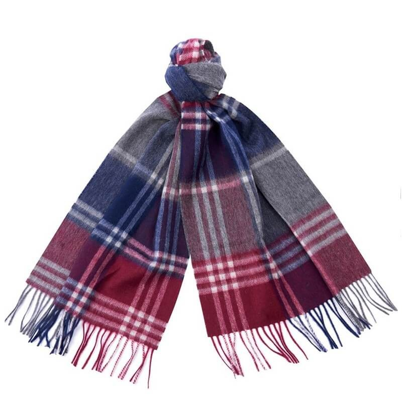 Barbour Kindar Check bordeaux/g - Bufandas BARBOUR