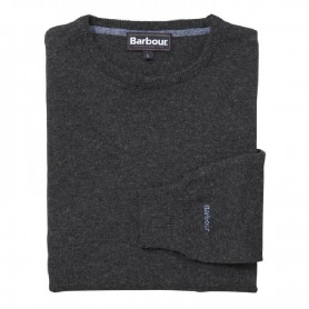 Jersey Barbour Essential Lambswool Crew Neck charcoal - Barbour