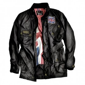 Chaqueta Barbour Union Jack black