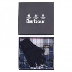 Bufanda y guantes Navy Tartan