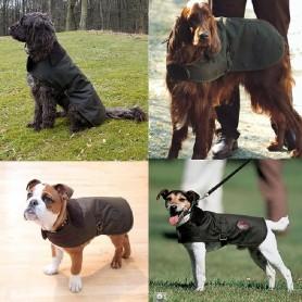 Capa para perro Wax olive - UAC0005OL71 - Barbour - Capas para perro BARBOUR