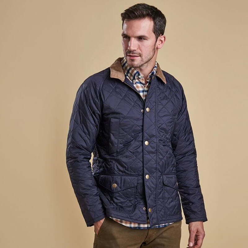 Canterdale quilt navy - MQU0759NY91 - Barbour - Hombre - Chaquetas BARBOUR
