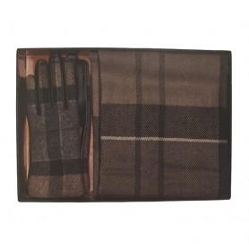 Bufanda y guantes Barbour Gift set winter tartan