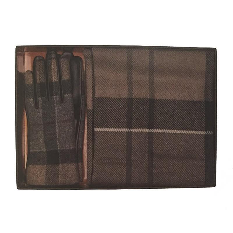 Bufanda y guantes Barbour Gift set winter tartan