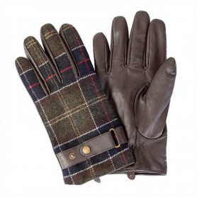 Guantes Barbour Tartan and Leather brown
