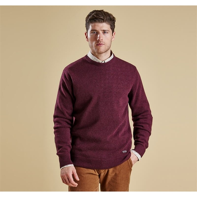 Jersey Barbour Patch Crew merlot