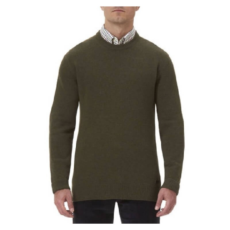 Jersey Barbour Patch Crew olive marl