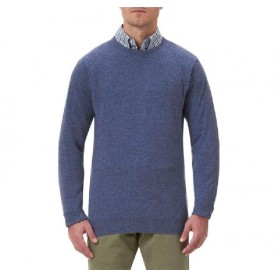 Jersey Barbour Essential Lambswool Crew Neck light denim