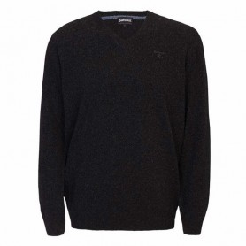 Jersey Barbour Essential lambswool V Neck black