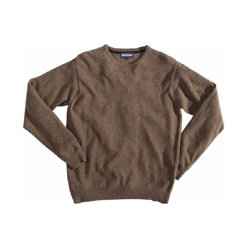 Jersey Barbour Essential Lambswool Crew Neck leather - Barbour
