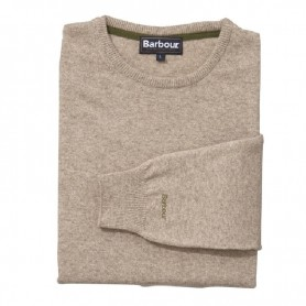 Essential Lambswool Crew Neck barley - MKN0345BE31 - Barbour - hombre - Jerseys BARBOUR